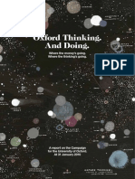 Oxford Thinking. and Doing. - A Report on the Campaign for the University of Oxford at 31 January 2010-1