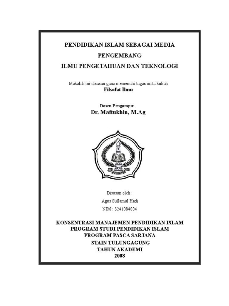 Cover Makalah Filsafat Ilmu