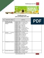 Jadwal Pelatihan SPA 2014 2