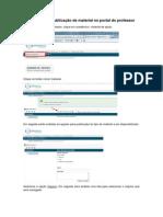 Manual para publicação de material no portal do professor