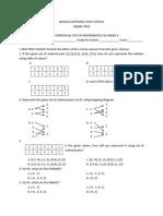 Math Exam Grade8