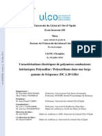 Liang C. Caractérisations électriques de polymères conducteurs