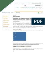 Folha Dirigida _ Artigos Dirigidos _ Roberto Andrade _ Conceitos de organização e de gerenciamento de informações, arquivos, pastas e programas - Parte 1