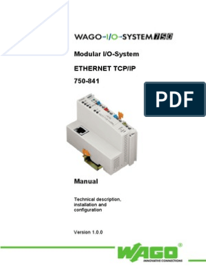 Wago 750-842 I//O sistema controller Ethernet controller feldbus