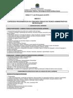 ANEXO II - CONTEÚDOS PROGRAMÁTICOS (Edital nº 11-2014)