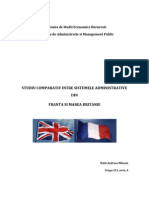 Studiu Comparativ Intre Sistemele Administrative Din