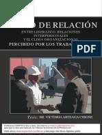 Grado de Relacion Liderazgo Relaciones Interpersonales y Los Trabajadores