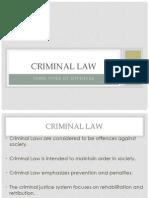 1  criminal law