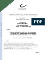 Marconnet C. Influence de l'adhésion et de l'activité enzymatique
