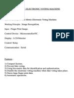 Biometric Electronic Voting Machine