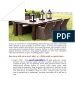 How to Maintain your Outdoor Patio Furniture