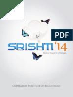 Srishti 2014 The fantabulous college magazine of Coimbatore Institute of Technology