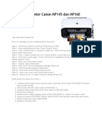 Cara Reset Printer Canon MP160