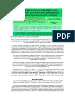 Utilidad del test de nivel subjetivo de preparación para valorar la preparación psicológica en deportes de combate