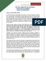110911 Discurso Ministro Saludo Tropa Palanquero