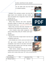 Work Instruction Sheet
