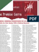 Lista Garra de Seleccionados Premios Garra