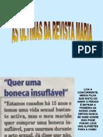 """As últimas da revista """"Maria"""""""