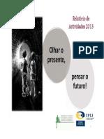 Relatório de 2013 das Comissões de Protecção de Crianças e Jovens (CPCJ) de Sintra
