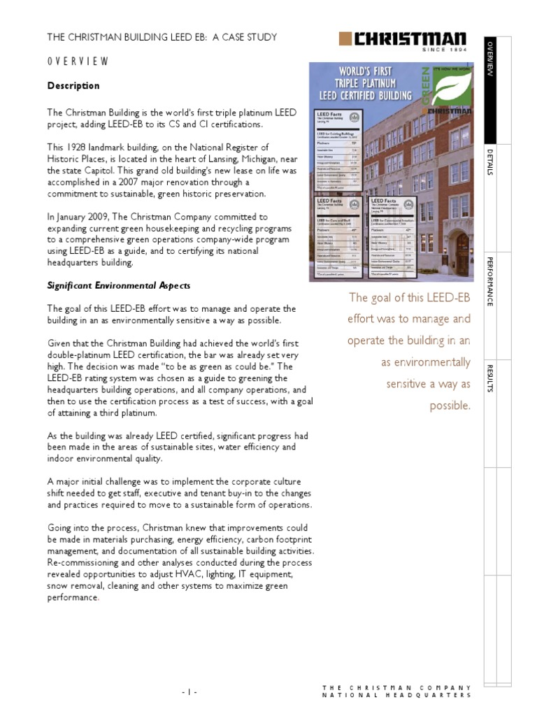 Leed Eb Casestudy Leadership In Energy And Environmental Design