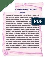 BIOGRAFÍA DE MAXIMILIAN CARL EMIL WEBER