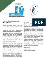 Informe Mensual Ministerial Marzo CEC