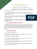 Charte de modération