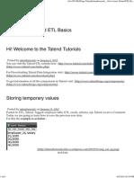 Talendtutorials Get to Learn Talend ET Basics