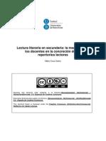 0TESISCruz-Lectura literaria en secundaria, mediación docente en repertorios lectores (2013)