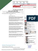 01-04-2014 'Complace a Alcalde de Reynosa Plan de Obras Por 384 Mdp'