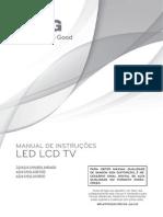 TV LG 47LM6400 CONEXÕES