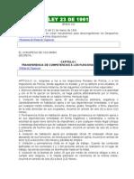 LEY 23 de 1991 Descongestion de Los Despachos Judiciales