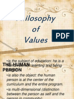 Philosophy of Values, And Values Development Process