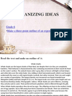 Organizing Ideas scope and sequence