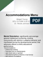 spu - accommodations menu