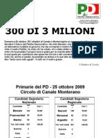 Risultati Primarie di Circolo 25 Ottobre 2009