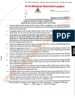 Eamcet 2013 Medical Paper