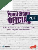 Indice de Acceso Al Gasto en Publicidad Oficial en Las Entidades - 2013