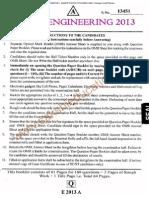 Eamcet 2013 Engineering Paper