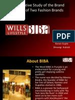 Biba vs Wills Lifestyle comparative study of brand identity