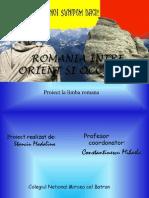 Romania Intre Orient Si Occident