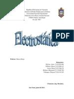 Informe de Electrostatica