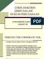 Ekbang Doktrin Doktrin Modern Dalam Hukum Perusahaan