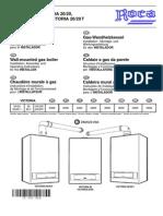 Manual Caldera Roca Victoria 20-20F Instalador.
