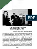 Vida, memoria, historia y nación en el Perú. Entrevista a Miguel Maticorena Estrada.