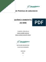 PRÁCTICAS DE LABORATORIO UNIFICADAS - QUÍMICA AMBIENTAL - TECNOLÓGICO DE ANTIOQUIA