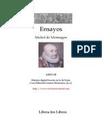 14198520 Montaigne Michel de Ensayos Libro 3