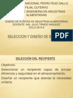 DP 4-Seleccion de Recipientes