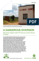 A Dangerous Diversion: Will the IFC's flagship health PPP bankrupt Lesotho's Ministry of Health?