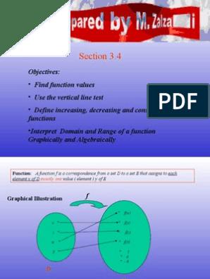 دروس في الرياضيات العامة الجامعية النطاق والمدى Domain Of A
